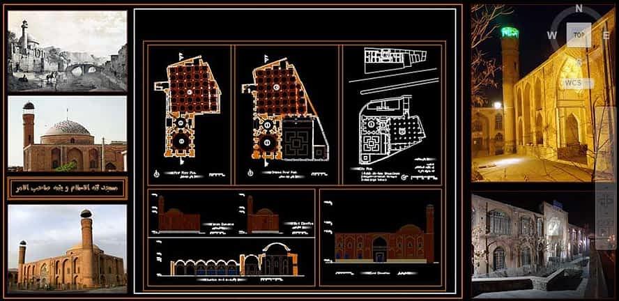 پلان مسجد ثقه الاسلام و نقشه صاحب الامر و نقشه مدرسه اکبریه