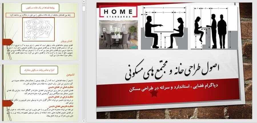 مطالعات مجتمع مسکونی ؛ ضوابط طراحی مجتمع مسکونی و نمونه مجتمع مسکونی