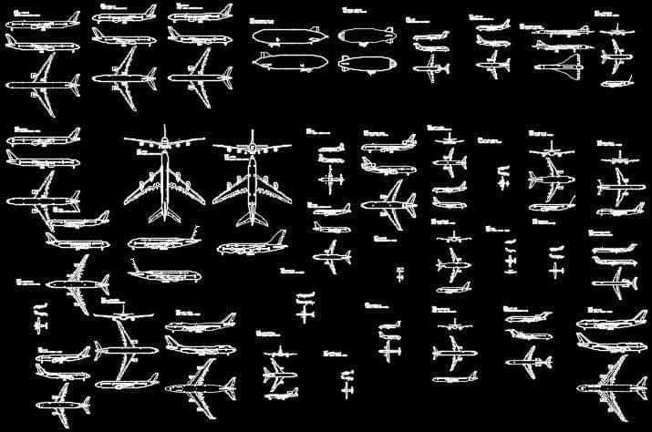 دانلود بلوک هواپیما ، اتوکد هواپیما ، بلوک هواپیمای مسافری ، بلوک آماده هواپیما دانلود بلوک هواپیما اتوکد ؛ شامل اتوکد انواع هواپیما