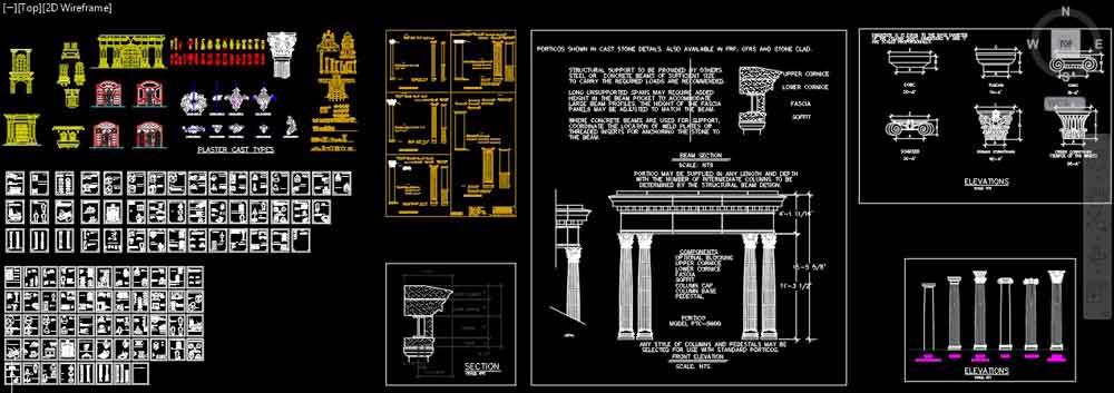آبجکت نمای رومی ؛ دانلود آبجکت نمای کلاسیک و بلوک اتوکد نمای رومی [dwg] دانلود آبجکت نمای رومی و نمونه ستون رومی و سرستون رومی در قالب اتوکد